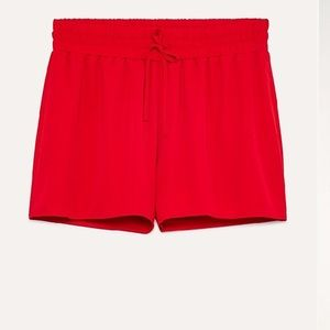 Aritzia Sunday Best Red Drawstring Shorts